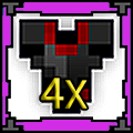 4 x Almandine Armor of Anger