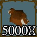 5000 Red Chinchompa<