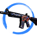 StatTrak™ M4A4 | 龍王 (Dragon King) (Field-Tested)
