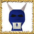 Blue Hallowe'en Mask