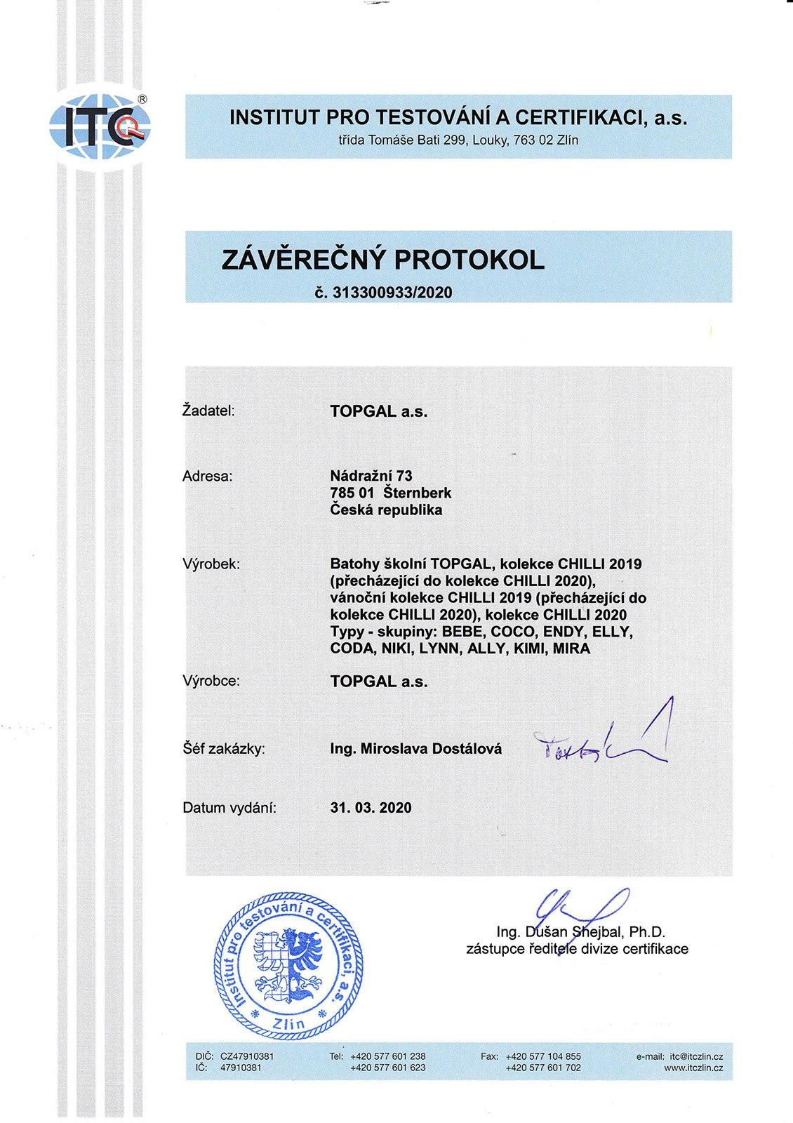 Plecaki TOPGAL z certyfikatem - 04