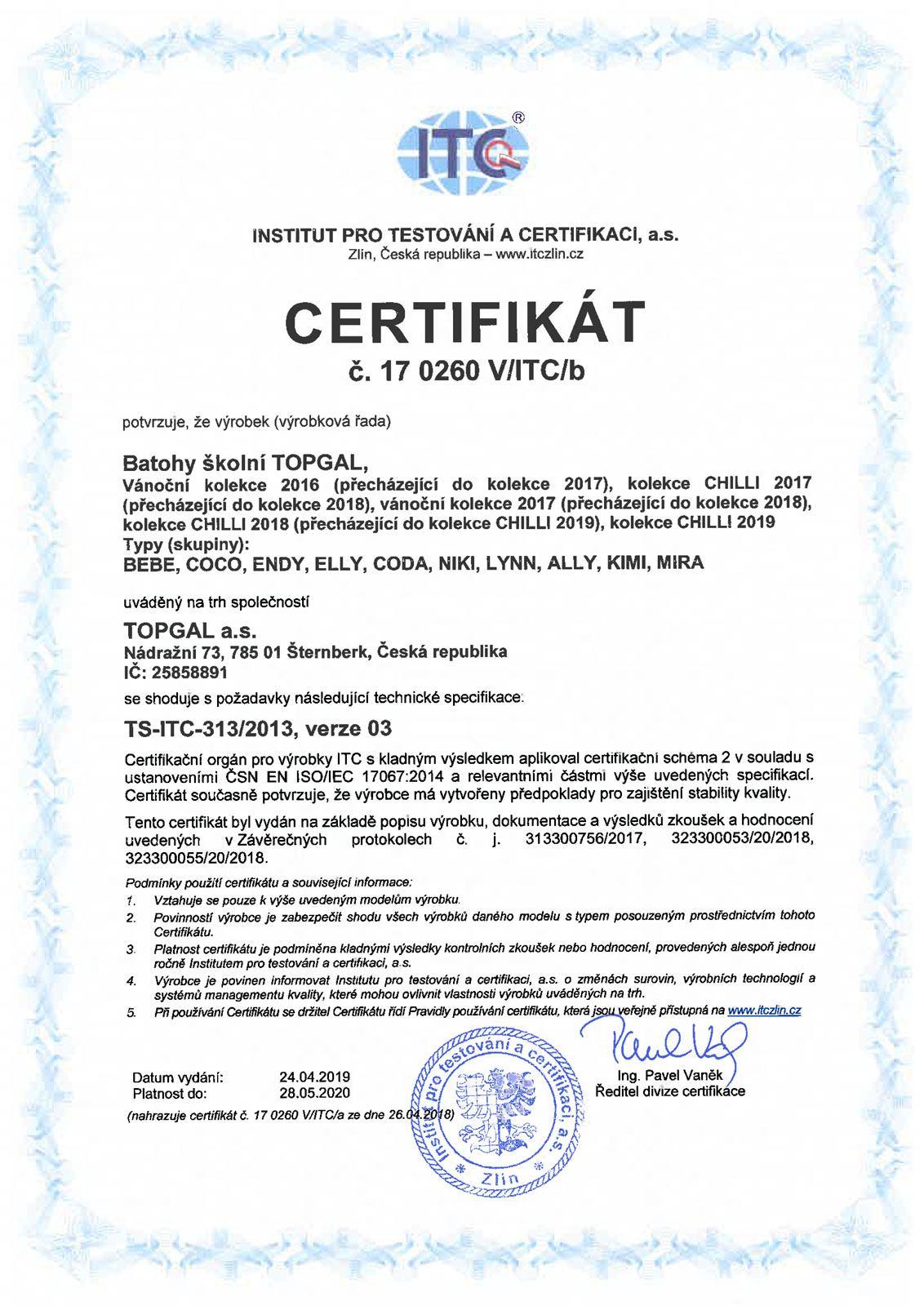 Certifikované školní batohy - strana 01