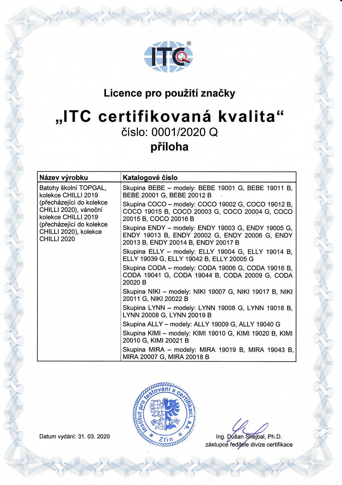 Plecaki TOPGAL z certyfikatem - 03