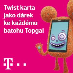 Twist karta jako dárek k batohu Topgal